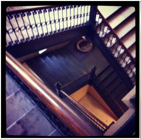 Back stairwell at LR City Hall.