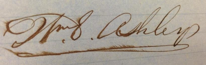 W E Ashley signature