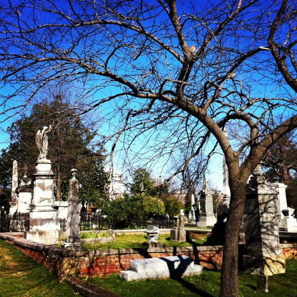 Mount Holly Cemetery in January 2013.