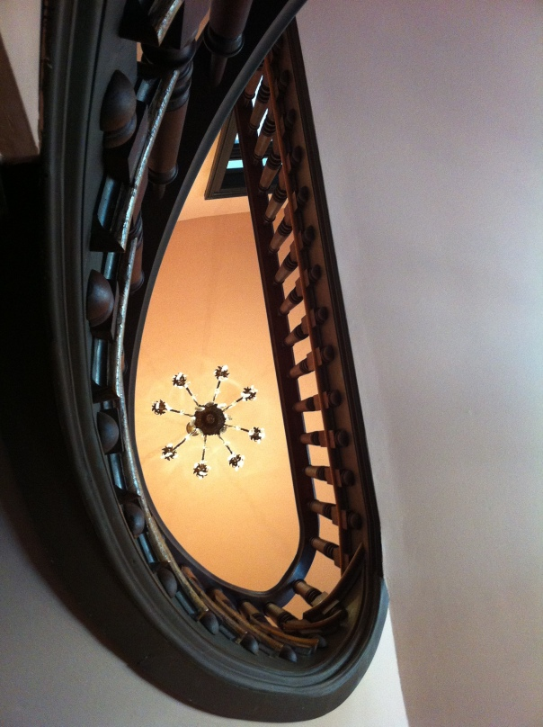 The stairwell in the Villa Marre.