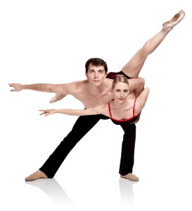 Photo by Lily Darragh featuring Ballet Arkansas artist Amanda Sewell and Toby Lewellen