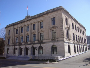 The Pulaski County Courthouse where the 12 Little Rock aldermen were arraigned.
