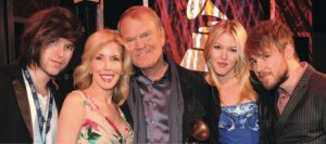 Glen Campbell and his family at the 2012 Grammy Awards