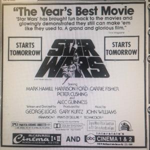 First ad in Arkansas Gazette (June 23, 1977)