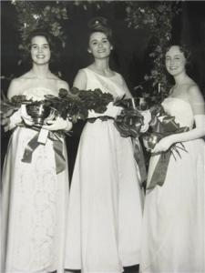 Miss City Beautiful 1964 Rita Fern Yoder with two of her princesses