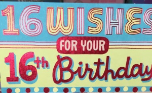 A 16th birthday card