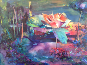 """MSW Gold Award """"Lake Lilies"""" by Judy Wright Walter"""