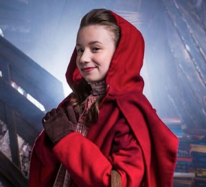Grace Pitts as Little Red Riding Hood - Photography by Grant Dillion for The Studio Theatre