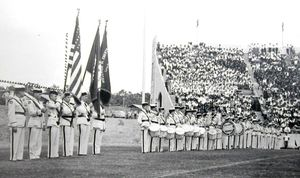 Dedication ceremony in 1948. Photo courtesy of the War Memorial Stadium Commission.