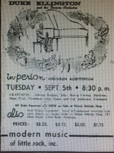 Newspaper ad for the concert that was not to be