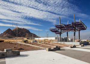 Vistas Cerro Grande Linear Park in Chihuahua City: A Public Mile Designed with and for the Community. Photos by Delfoz.